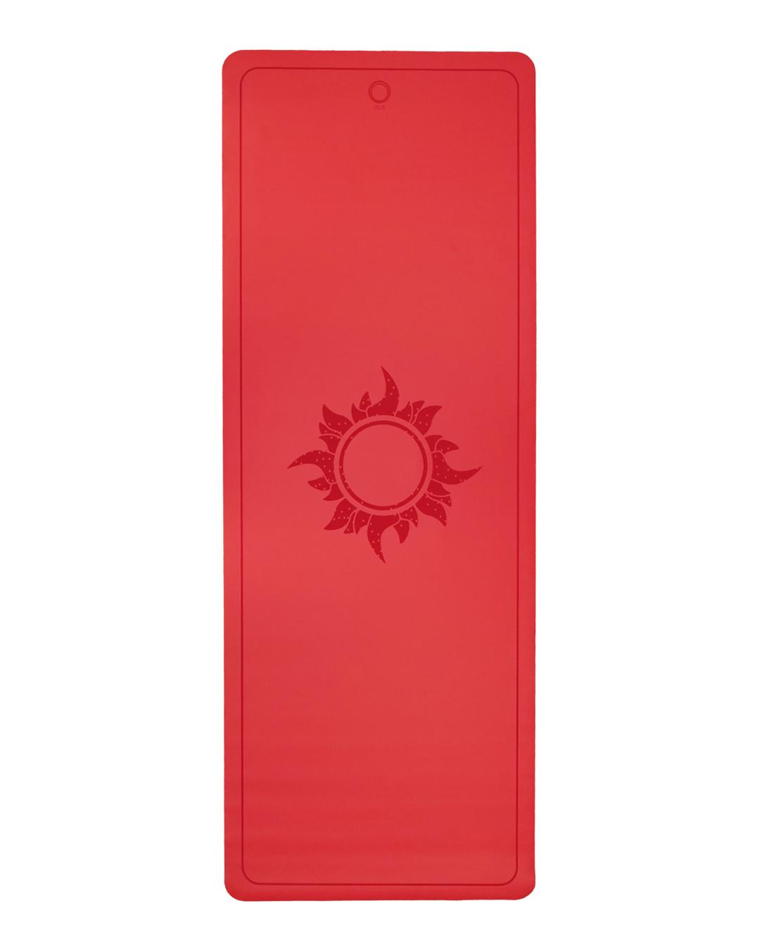 Red Sun Lighter Yoga Mat