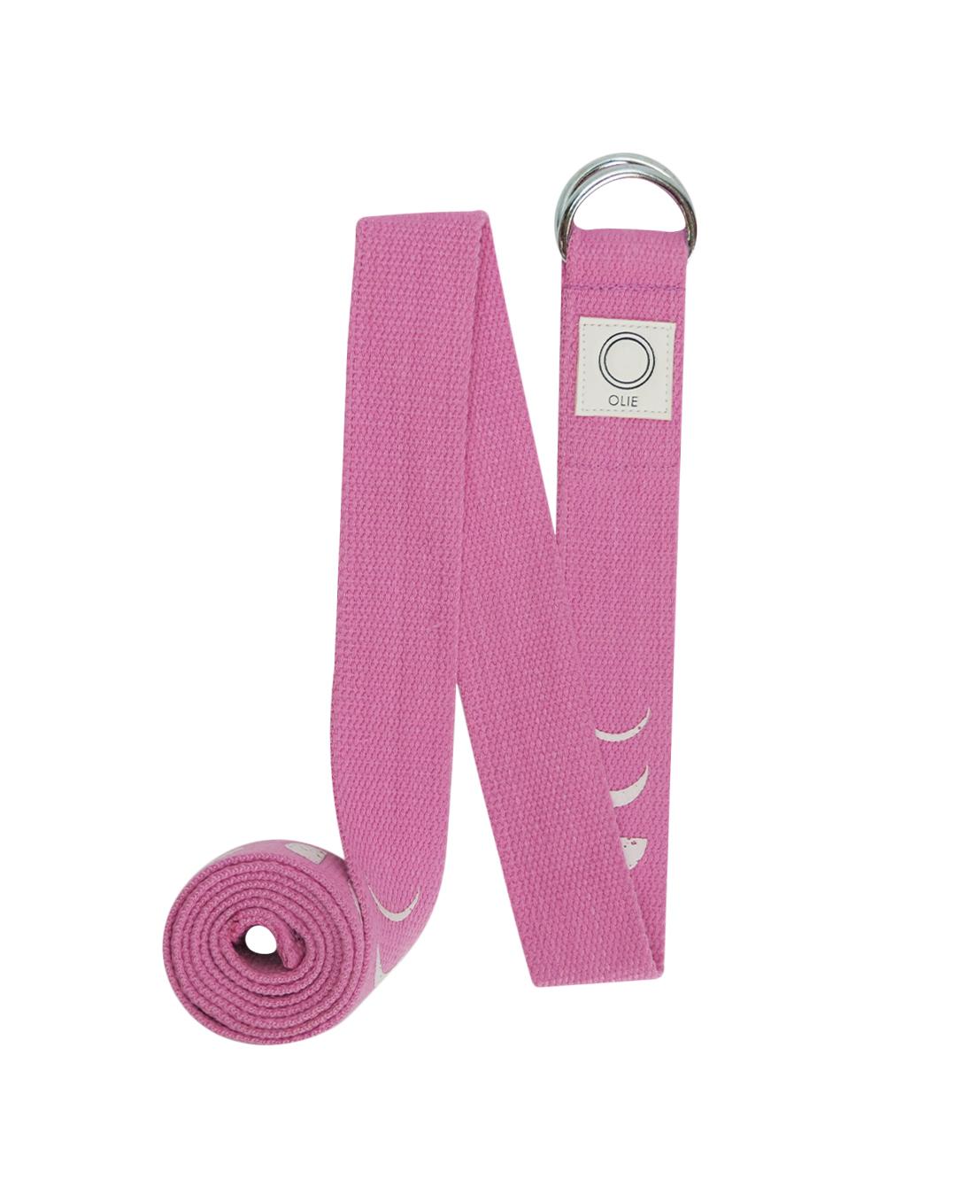 Pink Moon Phase Yoga Strap